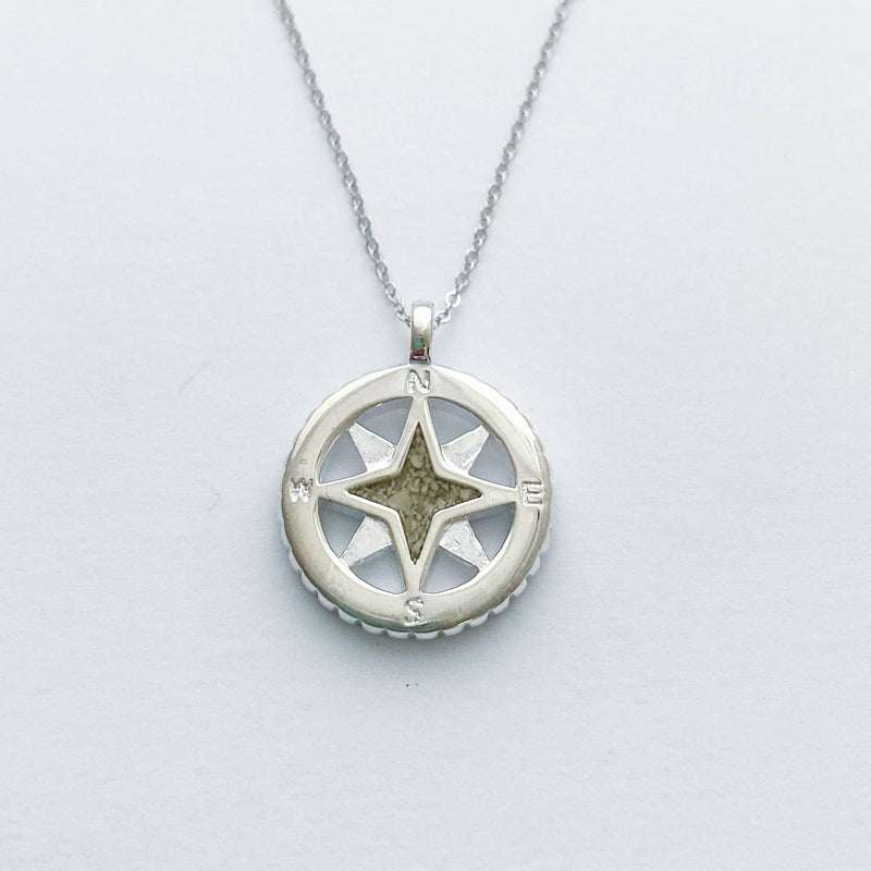 DUNE Sterling Silver Compass Necklace