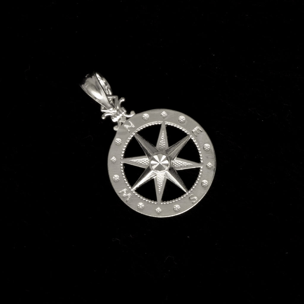 Sterling Silver Small Compass Pendant