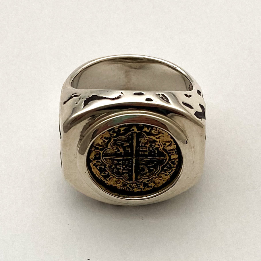 "Re-Creation ""Rogue"" Coin Ring, Copper and Silver"