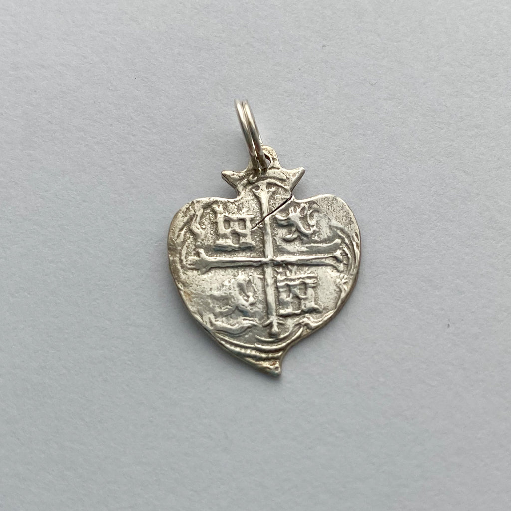 Shipwreck Jewelry Collection, Silver Heart Pendant