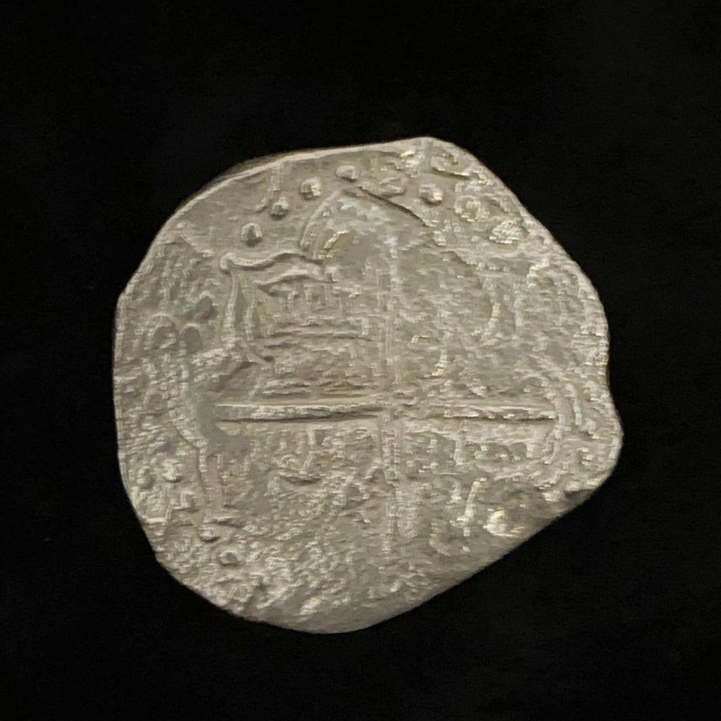 Authentic Atocha Silver Coin, Grade 2 , 8 Reales, Fully Dated, 1619