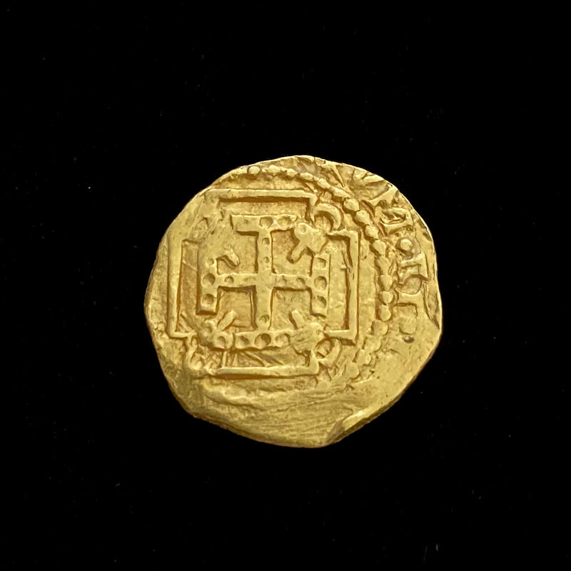 Authentic 1715 Fleet Gold Coin, 1 Escudo, FULL DATE
