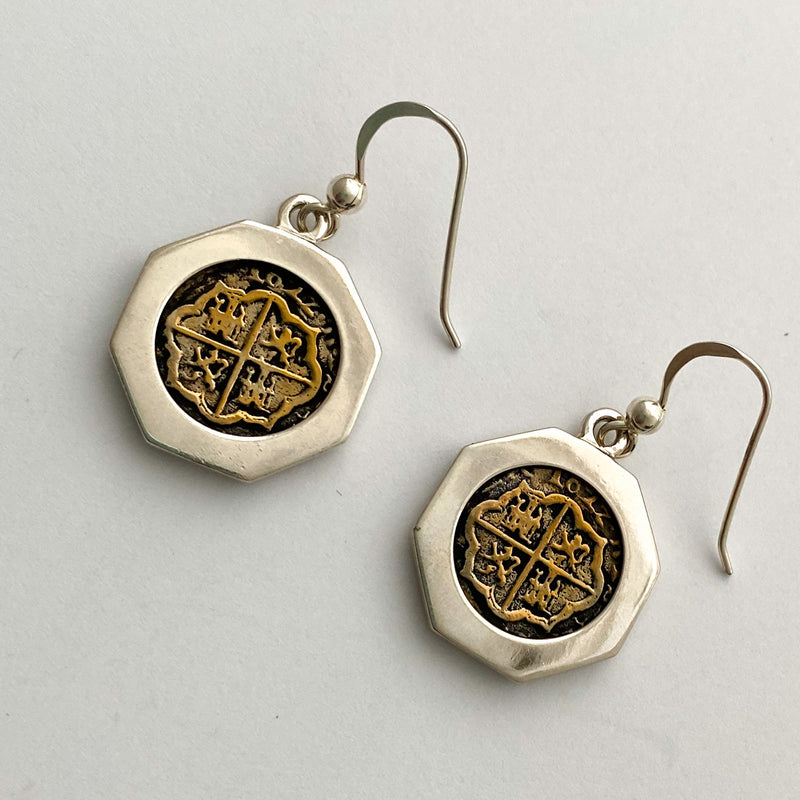 Atocha Re-creation Coin Earrings