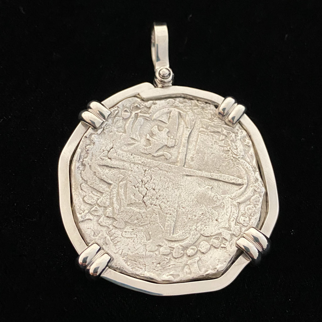 Authentic Margarita 8 Reales, Grade 1 Mounted in Silver Bezel