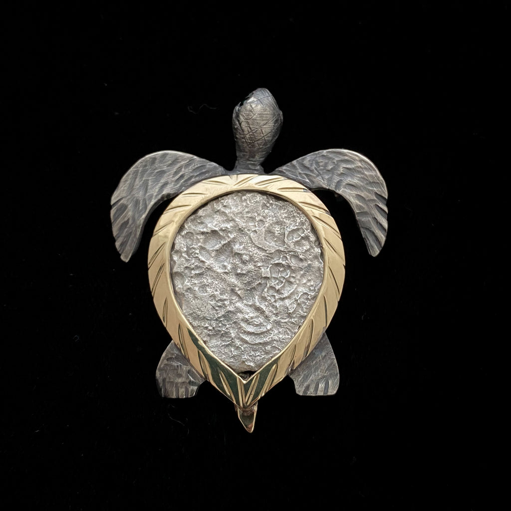 MOUNT SAMPLE  14K/SS Turtle Mount on on 4 Reales Atocha coin (coin not included)