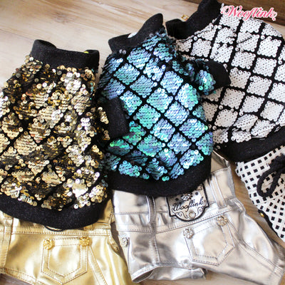 Bling Sequin Bomber Jacket
