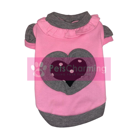 Pink & Black Heart Shirt