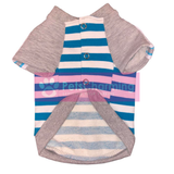 Blue Striped Shirt with Glittery Sleeves