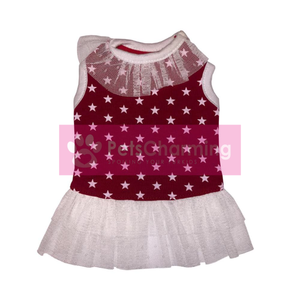 Red and White Star Dress