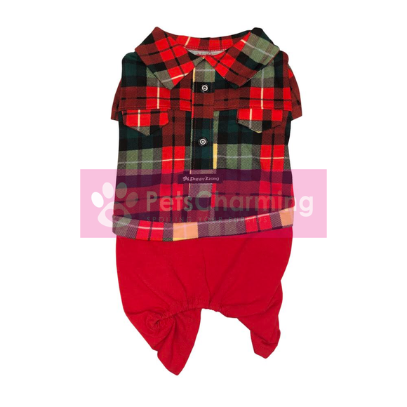 Red and Green Tartan Onesie