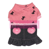 Pink Hound Dress with Denim Skirt