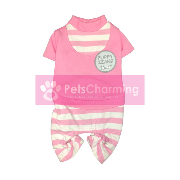 Pink & White Striped Onesie