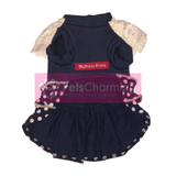 Decorated Navy Dress