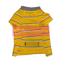 Yellow and Grey Striped Shirt