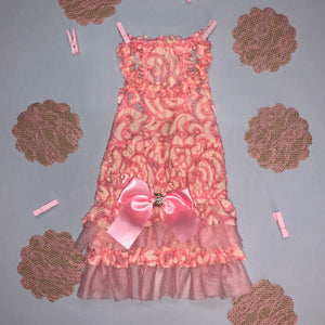 Pink & White Lace Dress