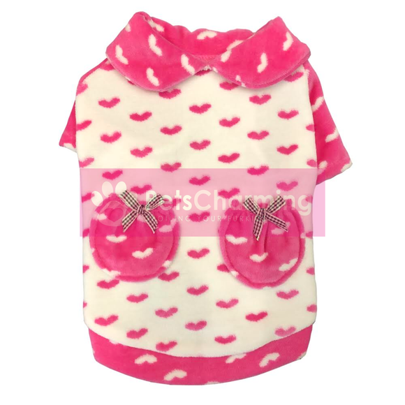 Pink & White Loveheart Jumper