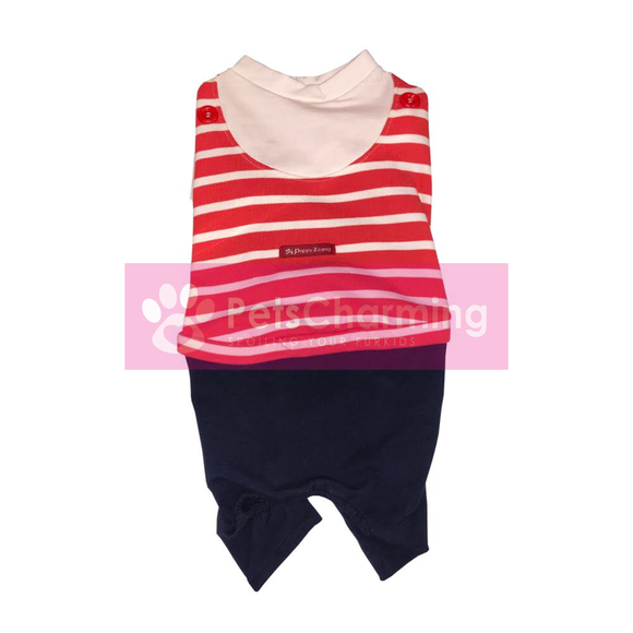 Red Striped Navy Onesie