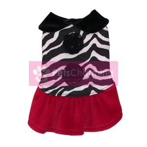 Zebra Dress with Red Skirt