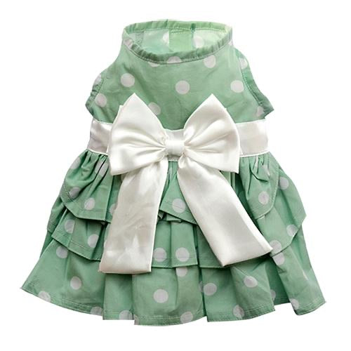Party Doggy Dress Green