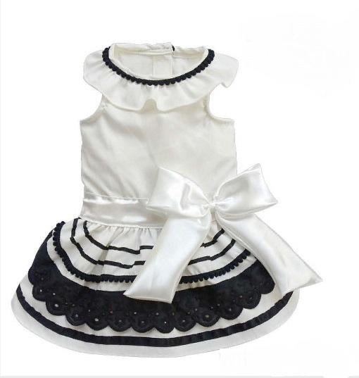 White & Black Doggy Dress