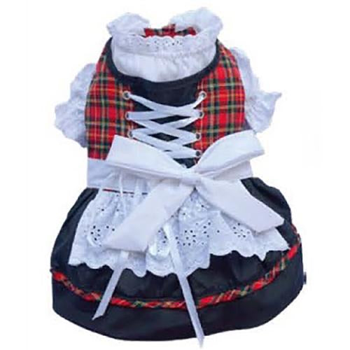 Doggy Dirndl White Bow Dress