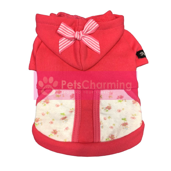 Pink Jumper with Floral Pockets