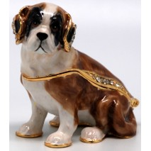 St Bernard Puppy Trinket Box