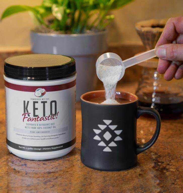 Keto Fantastic! - Powdered MCT Oil with Acacia Fiber - Unflavored - 60 servings - 600g - 21oz