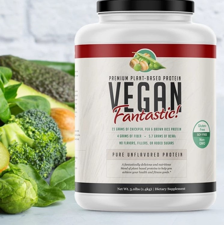 Vegan Fantastic! - Plant Based Protein  - Unflavored - 3lb - 42 Servings