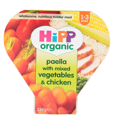 Hipp Organic Paella with Mixed Vegetables & Chicken 1-3 Years | 230g