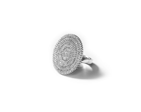 ZARUX - 18k  white Gold vermeil with Moissanite stone ring