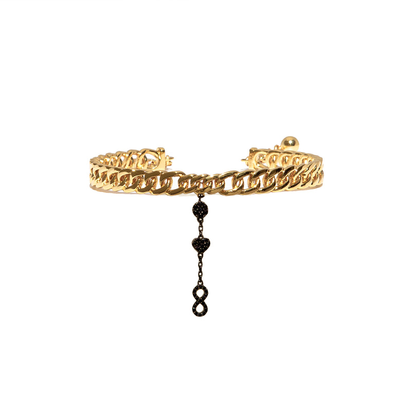 Three Charms Link Anklet