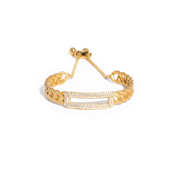ZARUX - 20k Yellow Gold Vermeil Bracelet with Cubic Zirconia