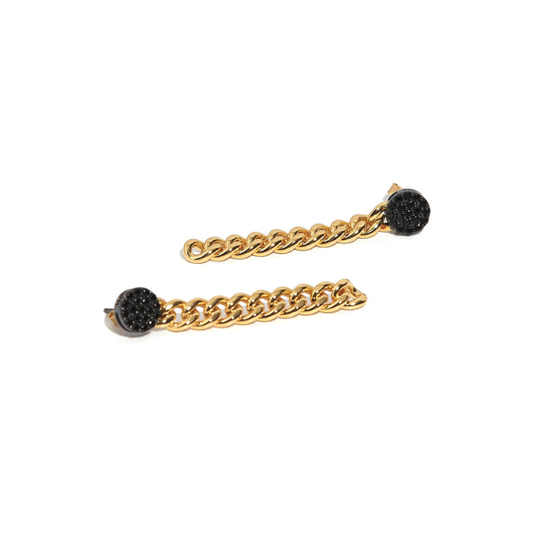 ZARUX - Black Onyx Drop Earrings