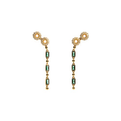 ZARUX - Green Onyx Yellow Gold Vermeil Earrings