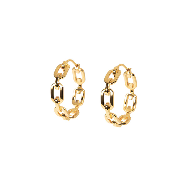 ZARUX - 20k Yellow Gold Vermeil Hoop Earrings