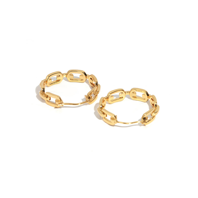 Modern Day Hoop Earrings
