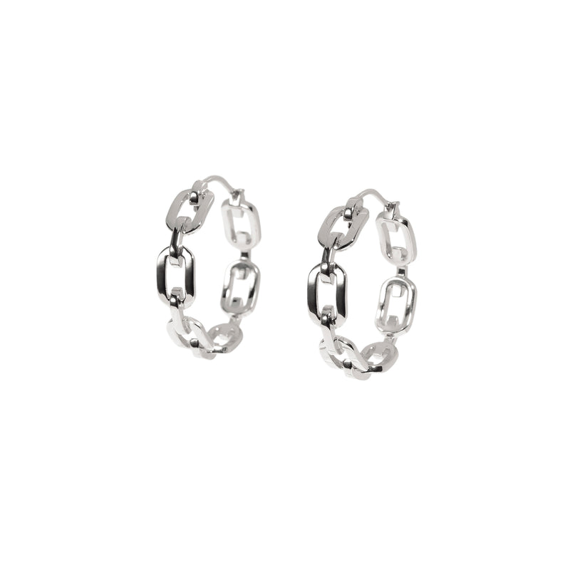 ZARUX - 18k White Gold Vermeil Hoop Earrings