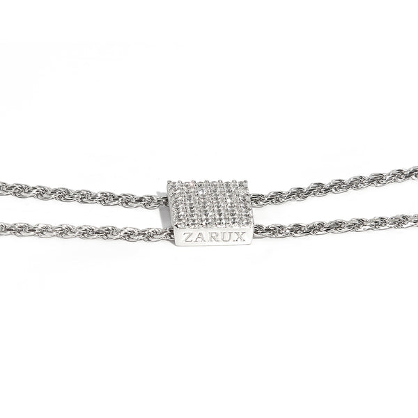 ZARUX - 18k White Gold Vermeil Necklace