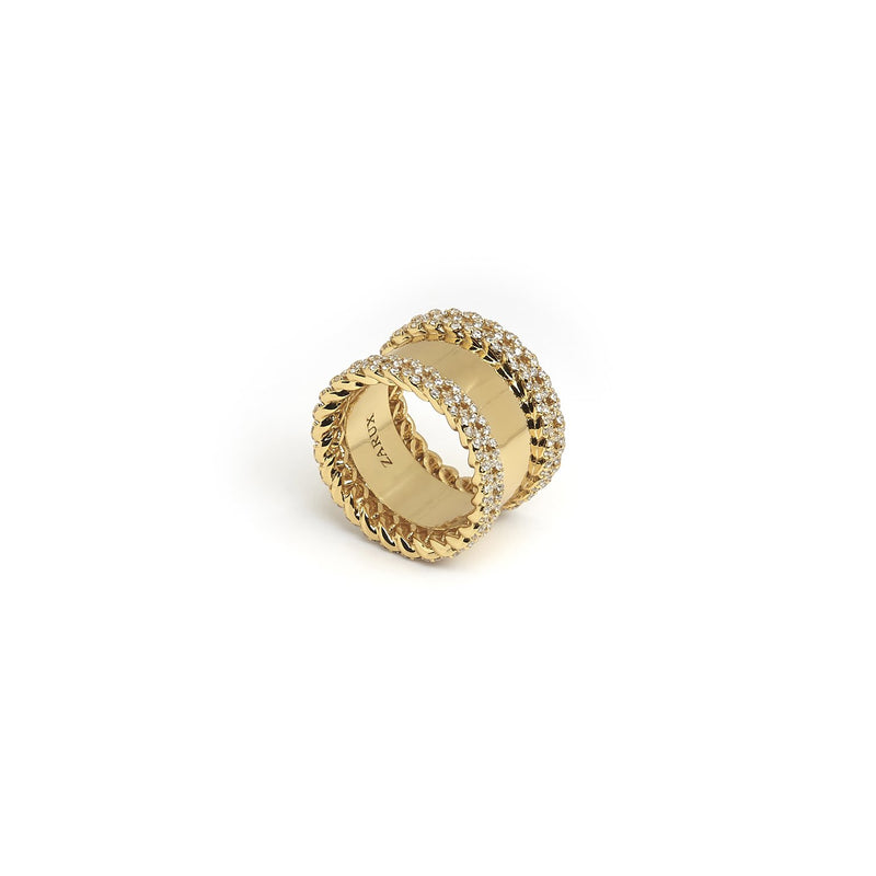 ZARUX- 20K gold vermeil with 4A CZ ring