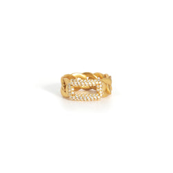 ZARUX - 20k Yellow Gold Vermeil Ring with Cubic Zirconia