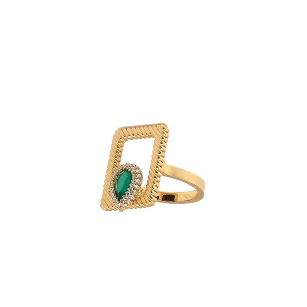 Elegant Green Onyx Ring