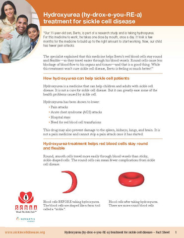 Hydroxyurea Treatment for Sickle Cell Disease - Fact Sheet