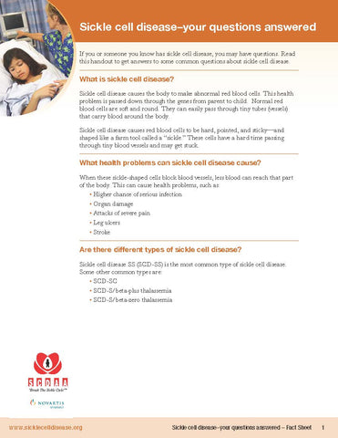 Sickle Cell Disease: Your Questions Answered – Fact Sheet