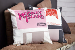 Monkey Island Disk 22 Floppy Pillow Cover by Maya Pixelskaya