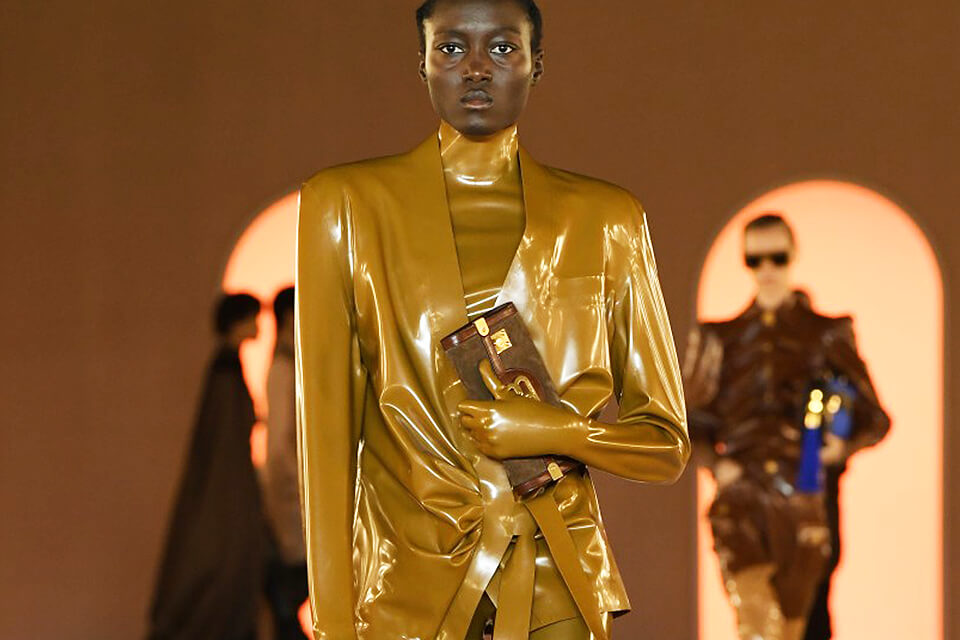 Latex Taking Over The Runway For Fall 2020
