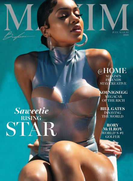 Saweetie wearing Vex on the cover of Maxim
