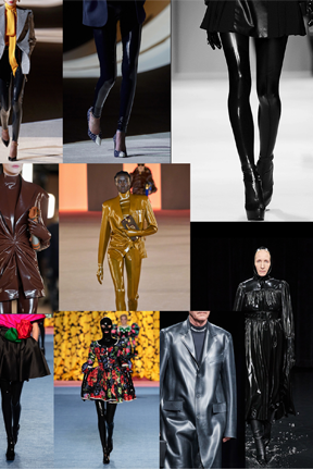 Latex Fashion Hits the runway Paris fashion week Fall 2020