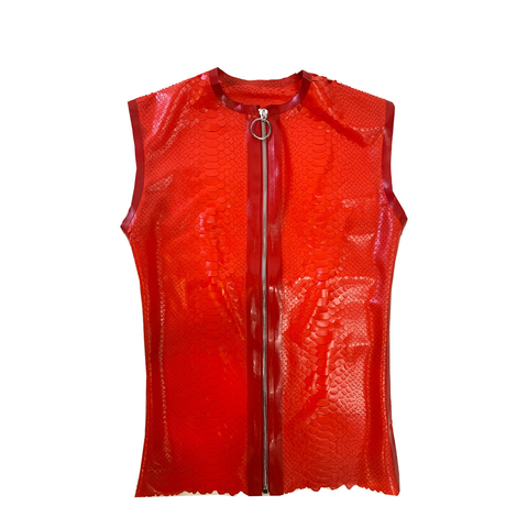 Latex tee with serpent detail