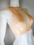 V-Fishnet Crop Top READY TO SHIP - Vex Inc. | Latex Clothing